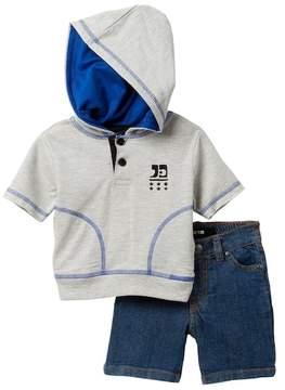 Joe's Jeans 2-Piece Short Sleeve Hoodie Set (Baby Boys)