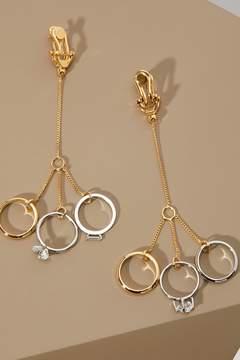 Jil Sander Pendant ring earrings