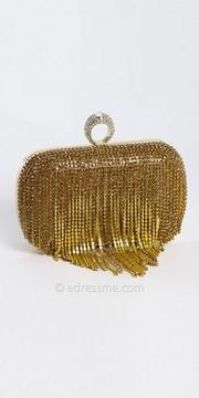 Camille La Vie Linear Rhinestone Drop Box Bag