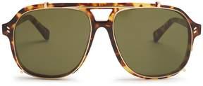 Stella McCartney Clip-on aviator acetate sunglasses