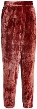 Masscob Tapered-leg velvet trousers