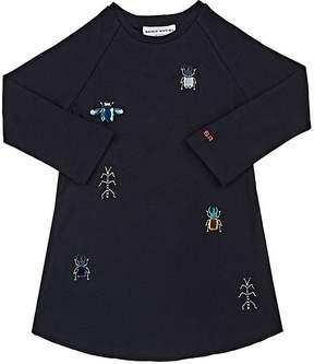 Sonia Rykiel Bug-Embellished Cotton Long-Sleeve Dress