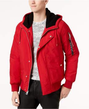 GUESS Men's Halen Jacket with Fleece-Lined Hood
