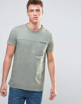 Esprit T-Shirt with Cut and Sew Patch Details