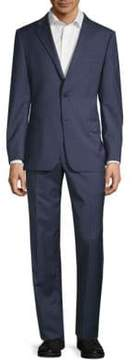 Hickey Freeman Regular-Fit Checkered Wool Suit