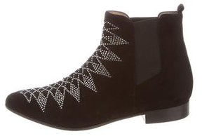 IRO Suede Studded Ankle Boots