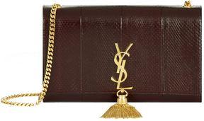 Saint Laurent Tassel Monogram Shoulder Bag - RED - STYLE