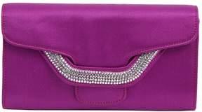 Sergio Rossi Purple Cloth Clutch Bag