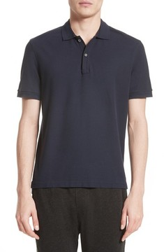 ATM Anthony Thomas Melillo Men's Stitched Collar Cotton Pique Polo