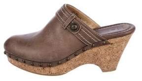 Frye Leather Audra Clogs