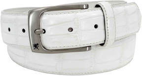 Stacy Adams Croc-Embossed Leather Belt