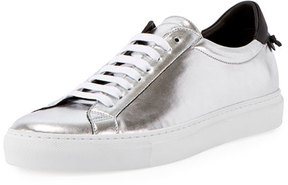 Givenchy Urban Street Metallic Low-Top Sneaker, Silver