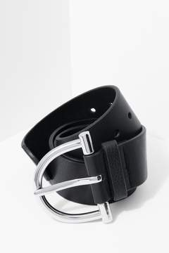 7 For All Mankind Blake Belt In Black And Silver