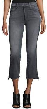 Mother Insider Crop Step Fray Jeans with Side Stripes