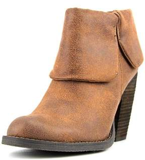 Luichiny Brush Up Women Round Toe Leather Tan Ankle Boot.