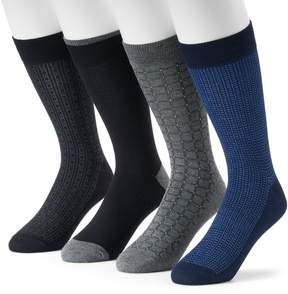 Croft & Barrow Men's 4-Pack Opticool Patterned Dress Socks