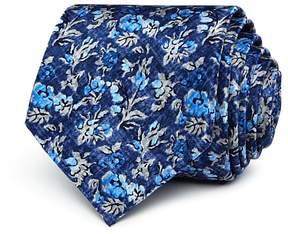 Bloomingdale's The Men's Store at Tonal Floral Skinny Tie - 100% Exclusive