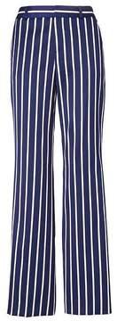 Banana Republic Blake Wide Leg-Fit Luxe Twill Stripe Pant