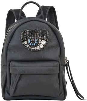 Chiara Ferragni Black Logomania Backpack