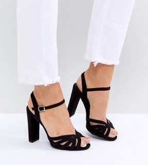 New Look Wide Fit Suedette Platform Strappy Sandals