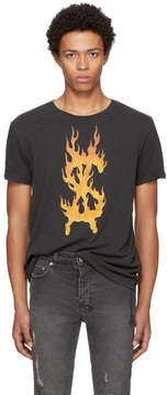 Ksubi Black Travis Scott Edition Flaming Dollar T-Shirt