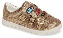 Sam Edelman Girl's Liv Wendy Glitter Emoji Sneaker