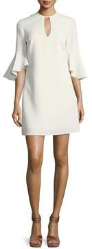 Shoshanna Casmaliia Trumpet-Sleeve Mini Dress