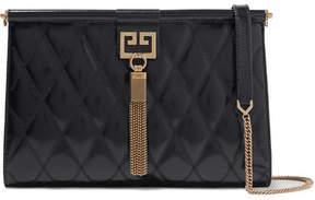 Givenchy Gem Quilted Glossed-leather Shoulder Bag - Black