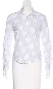 Cacharel Striped Button-Up Top
