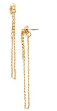 Ettika Women's Crystal Chain Drop Earrings