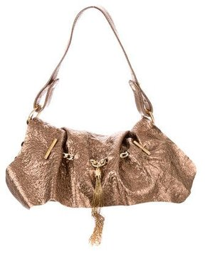 Roberto Cavalli Metallic Leather Bag