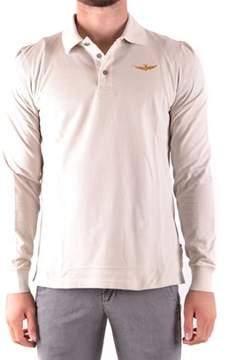 Aeronautica Militare Men's White Cotton Polo Shirt.
