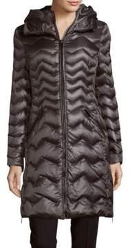 Dawn Levy Karen Chevron-Quilted Down Puffer Coat