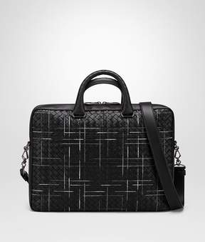 Bottega Veneta Nero Intrecciato Nappa Atlas Briefcase