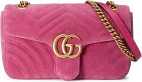 GG Marmont Chevron velvet shoulder bag