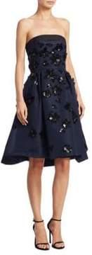 Carolina Herrera Silk Faille Sequin Dress