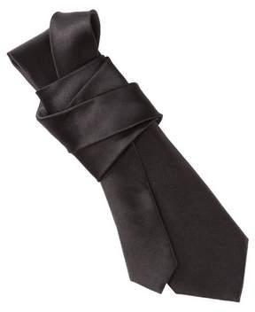 Merona Men's Skinny Solid Satin Tie Black