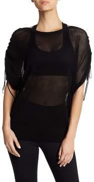 Blanc Noir Sea Breeze Poncho Sleeve Sweater
