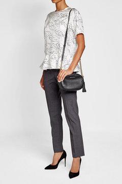 MICHAEL Michael Kors Leather Shoulder Bag with Tassel - BLACK - STYLE