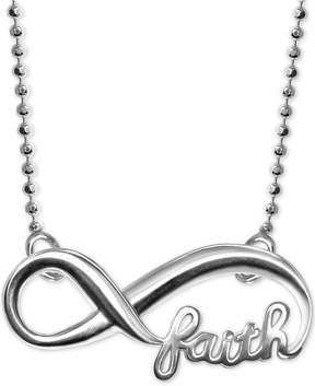 Alex Woo Faith and Infinity Pendant Necklace in Sterling Silver