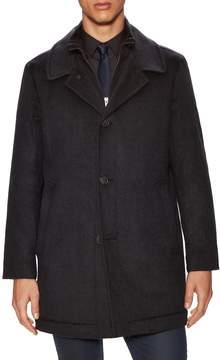 Hart Schaffner Marx Men's Macbeth Wool Double-Collar Car Coat