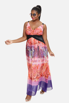 Fashion to Figure Florence Ombre Scarf Print Maxi Dress