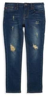 Hudson Little Girl's Dolly Skinny Ripped Jeans
