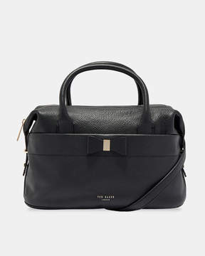 Ted Baker ANALA Bow detail large leather bowler bag