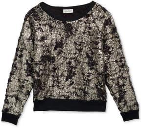 Jessica Simpson Everett Foil Sweatshirt, Big Girls (7-16)