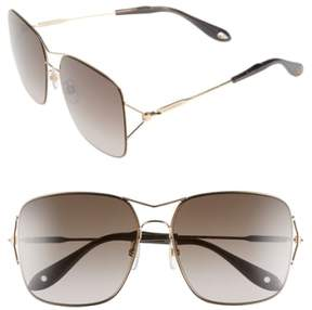 Women's Givenchy 58Mm Sunglasses - Gold