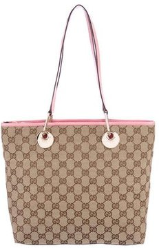 Gucci GG Canvas Eclipse Tote - BROWN - STYLE