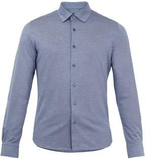 Ermenegildo Zegna Point-collar cotton-piqué shirt