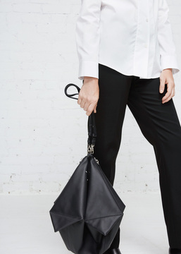 Maison Margiela black medium foldup clutch