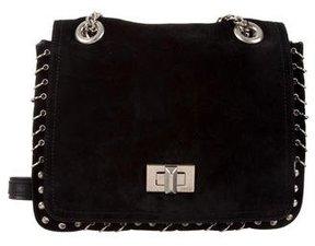 Emilio Pucci Suede Embellished Shoulder Bag